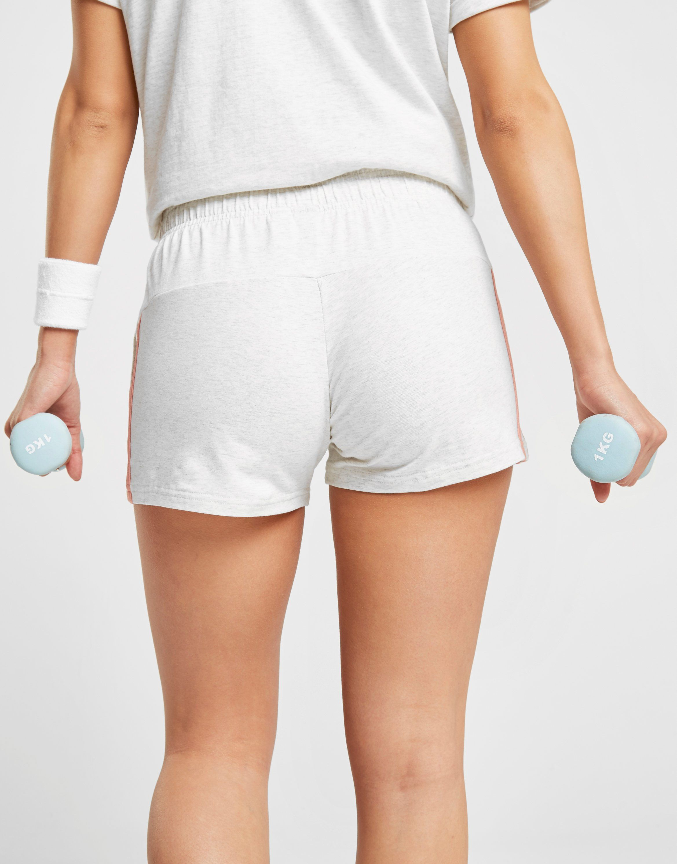adidas Essentials 3-Stripes Linear Shorts Weiss