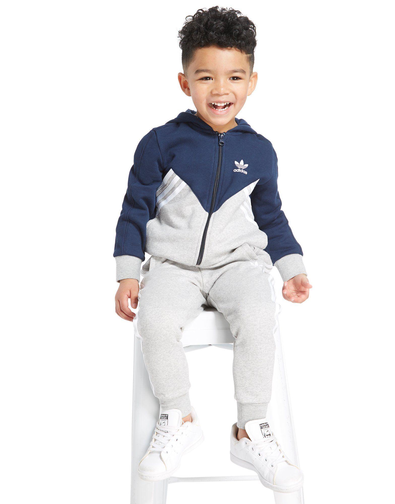 adidas Originals MOA Full Zip Hooded Suit Kinderen