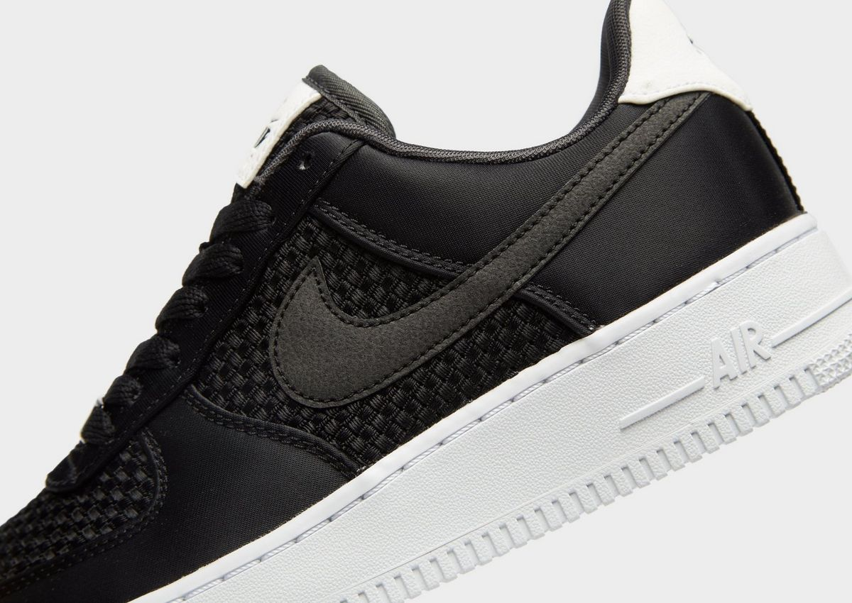 new style 098ea f30a8 nike air force 1 woven donna nero 050123