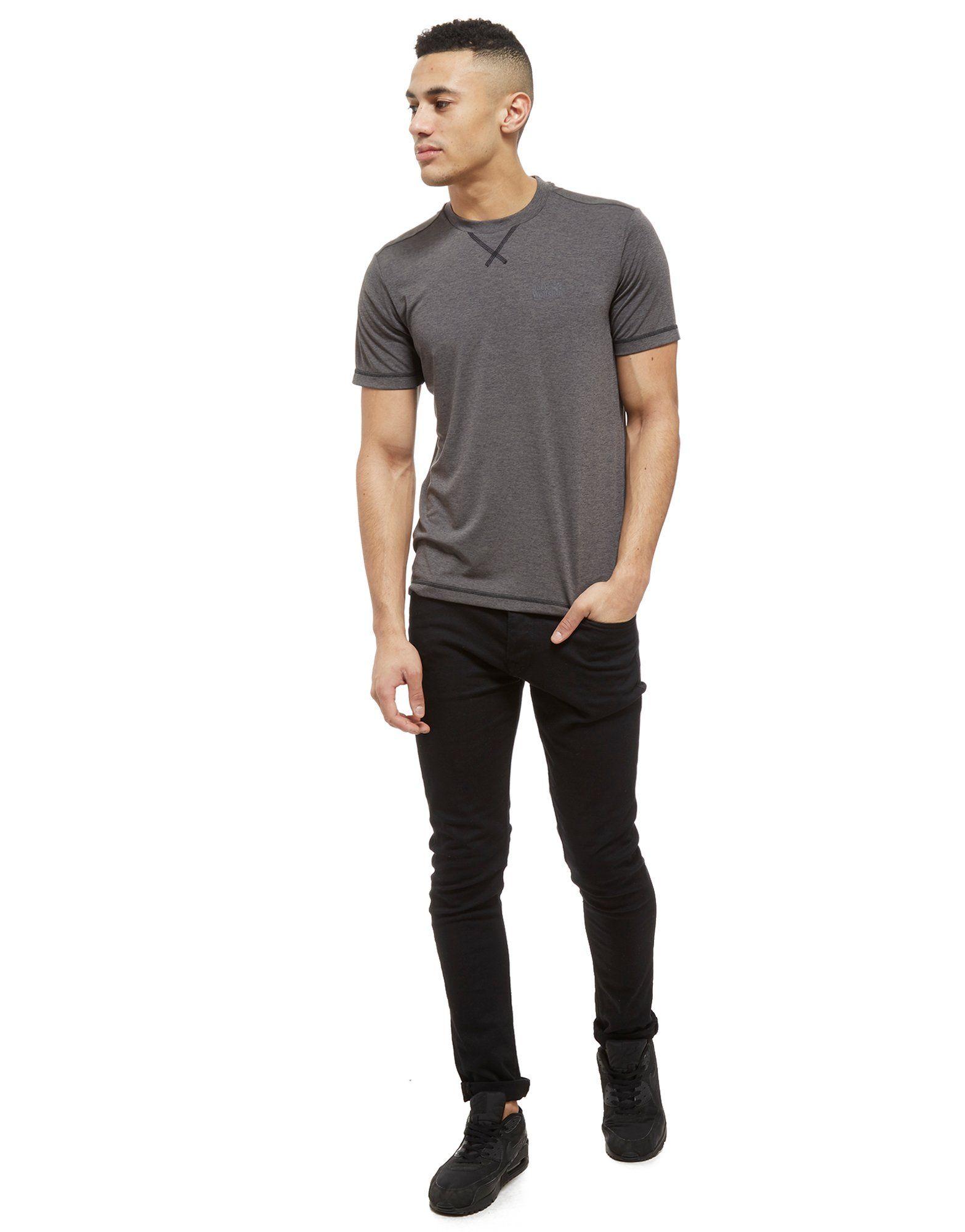 Jack Wolfskin Kurzarm Core Tech T-Shirt Grau