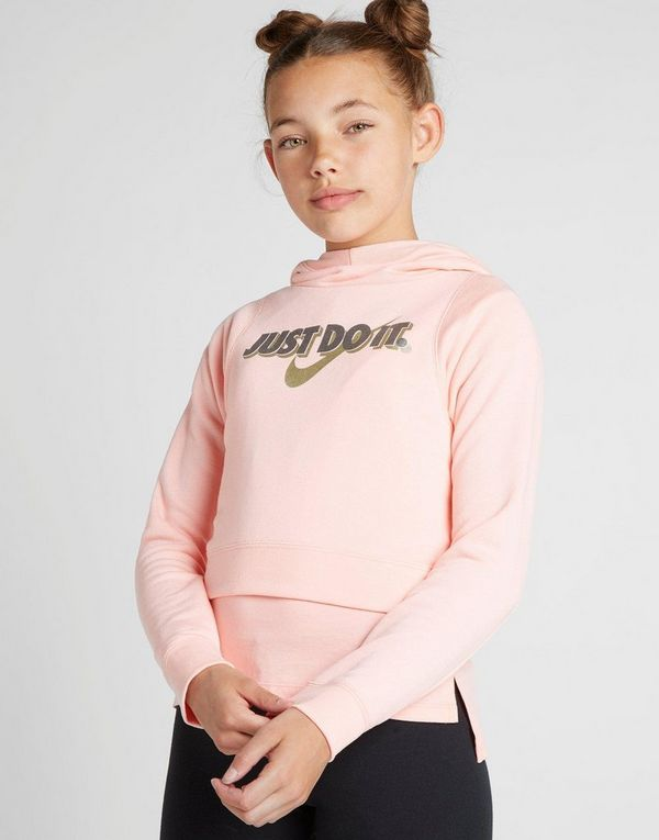 9bf41d4d7bd7 Nike Girls  Just Do It Crop Hoodie Junior