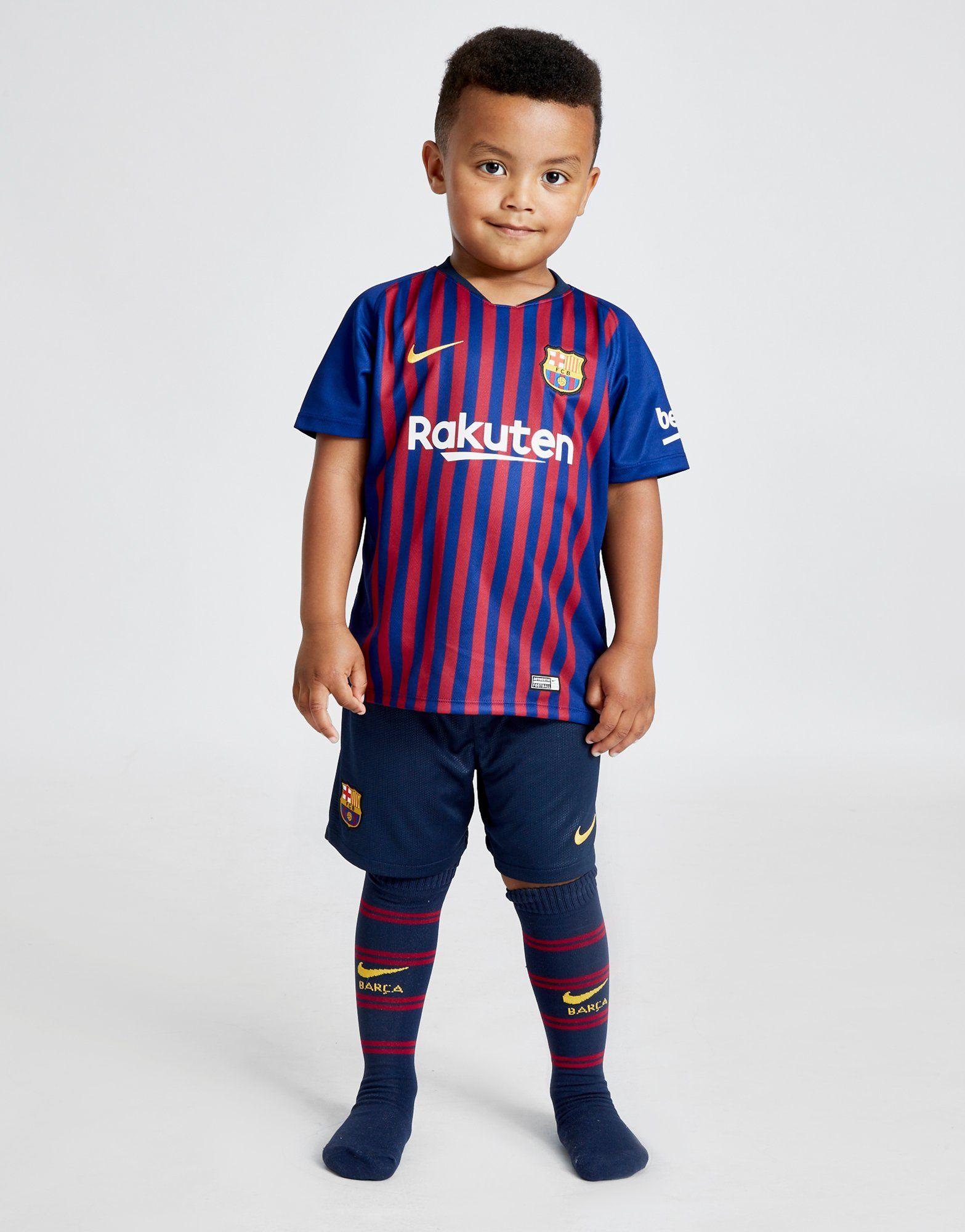 Nike FC Barcelona 2018 19 Home Kit Children  13a0bcd44