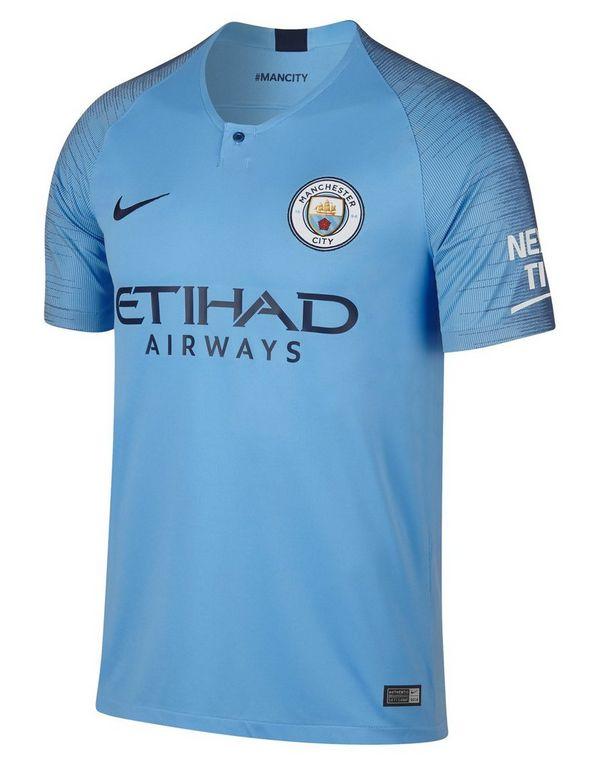23b64990d585e Nike camiseta Manchester City FC 2018 19 1.ª equipación júnior