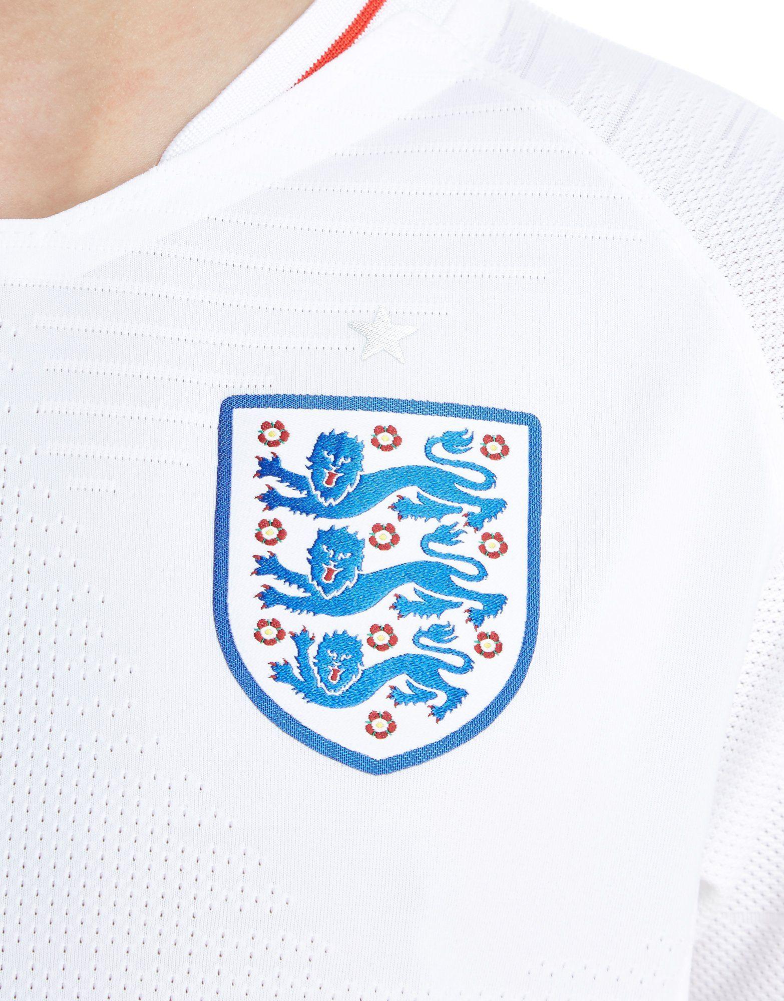 Nike camiseta Inglaterra 2018 1.ª equipación Vapor júnior