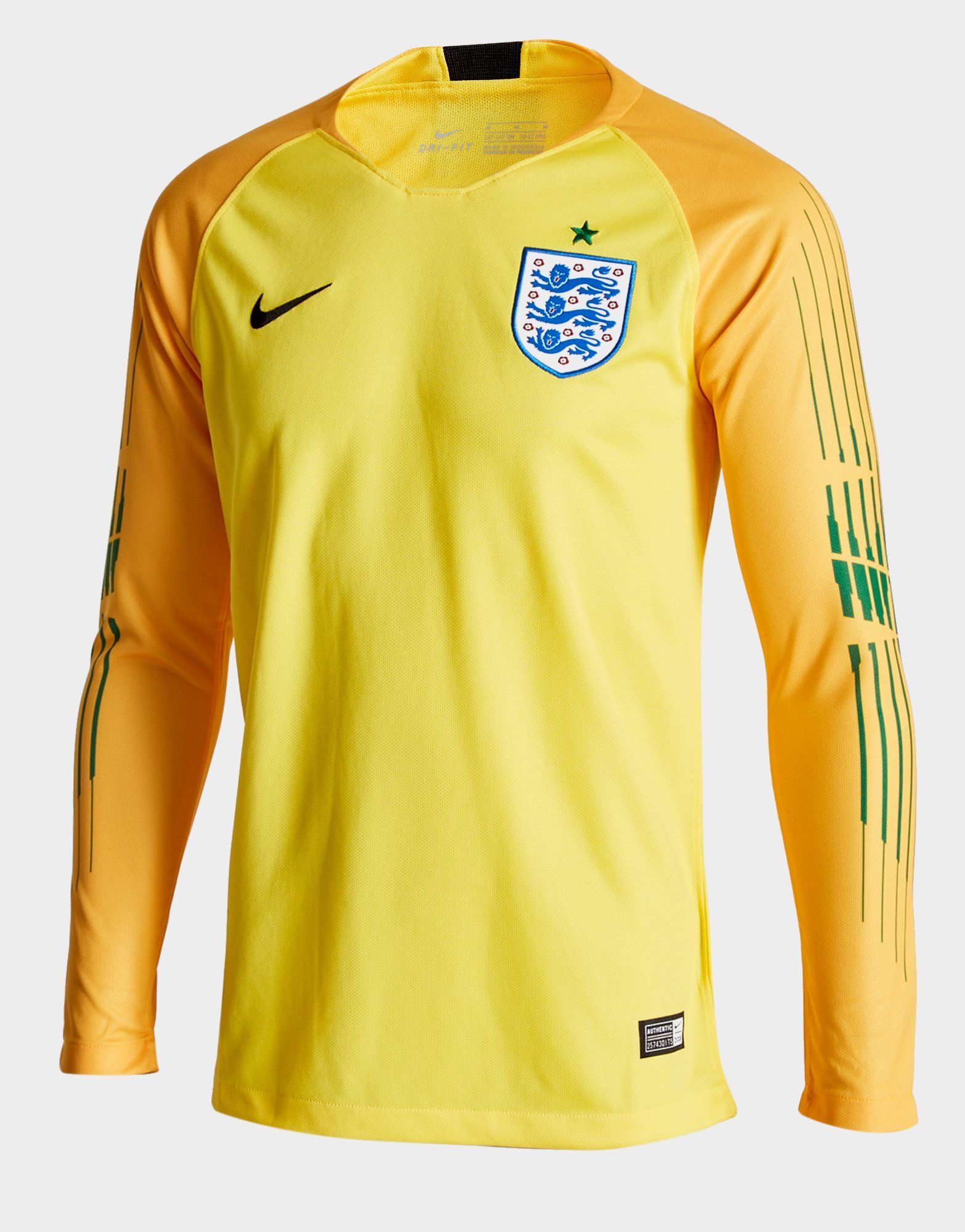 Nike England 2018 Home Goalkeeper Shirt Junior