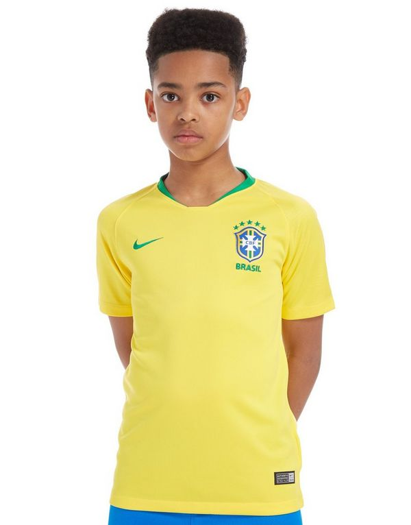 Nike Maillot JD Domicile Brésil 2018 Junior JD Maillot Sports 6e1efd