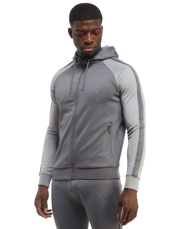 Gym King Poly Reflective Zip Through Hoodie