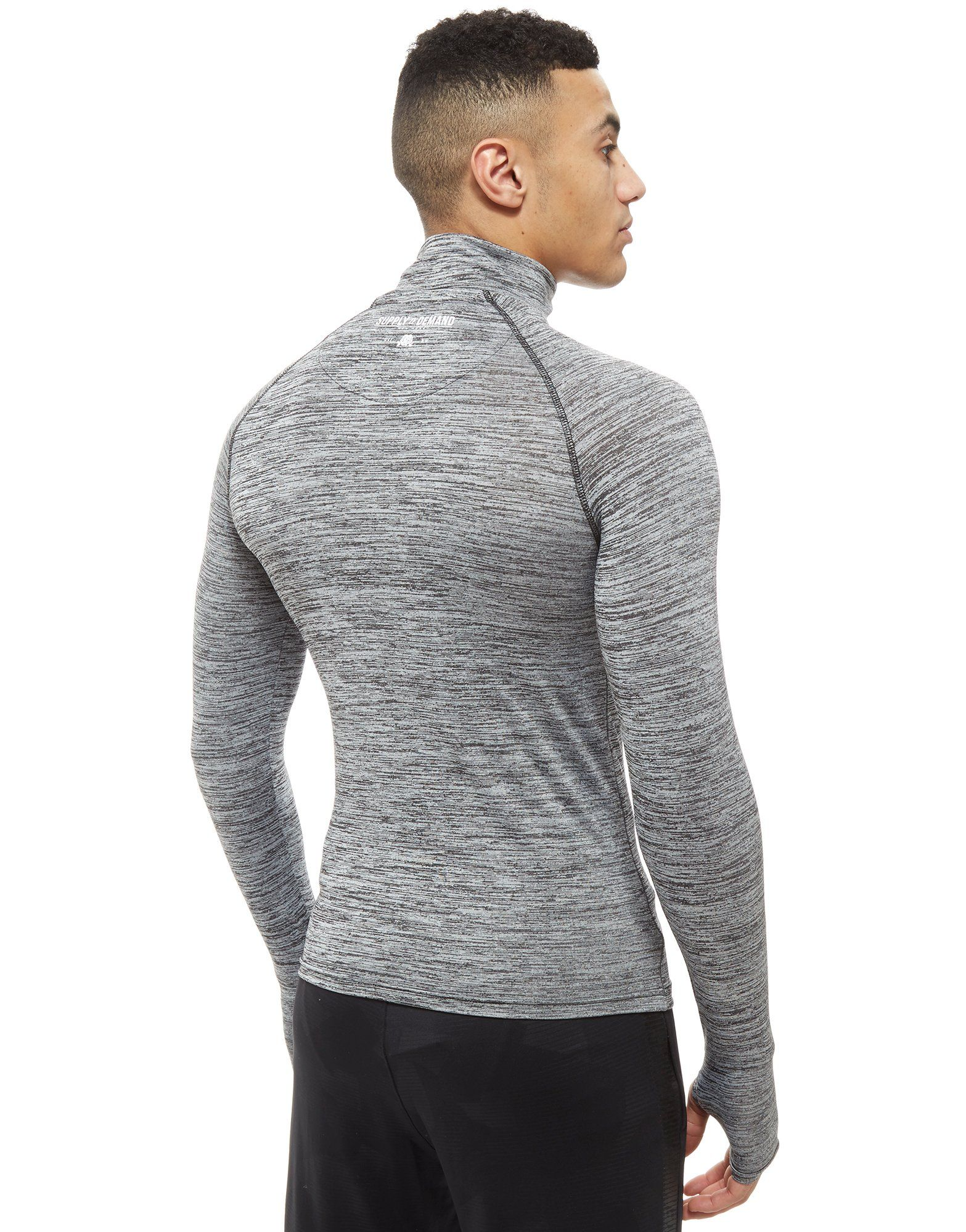 Supply Body Top 1 Long Zip Grau Sleeve 4 Demand amp; rOUqPr