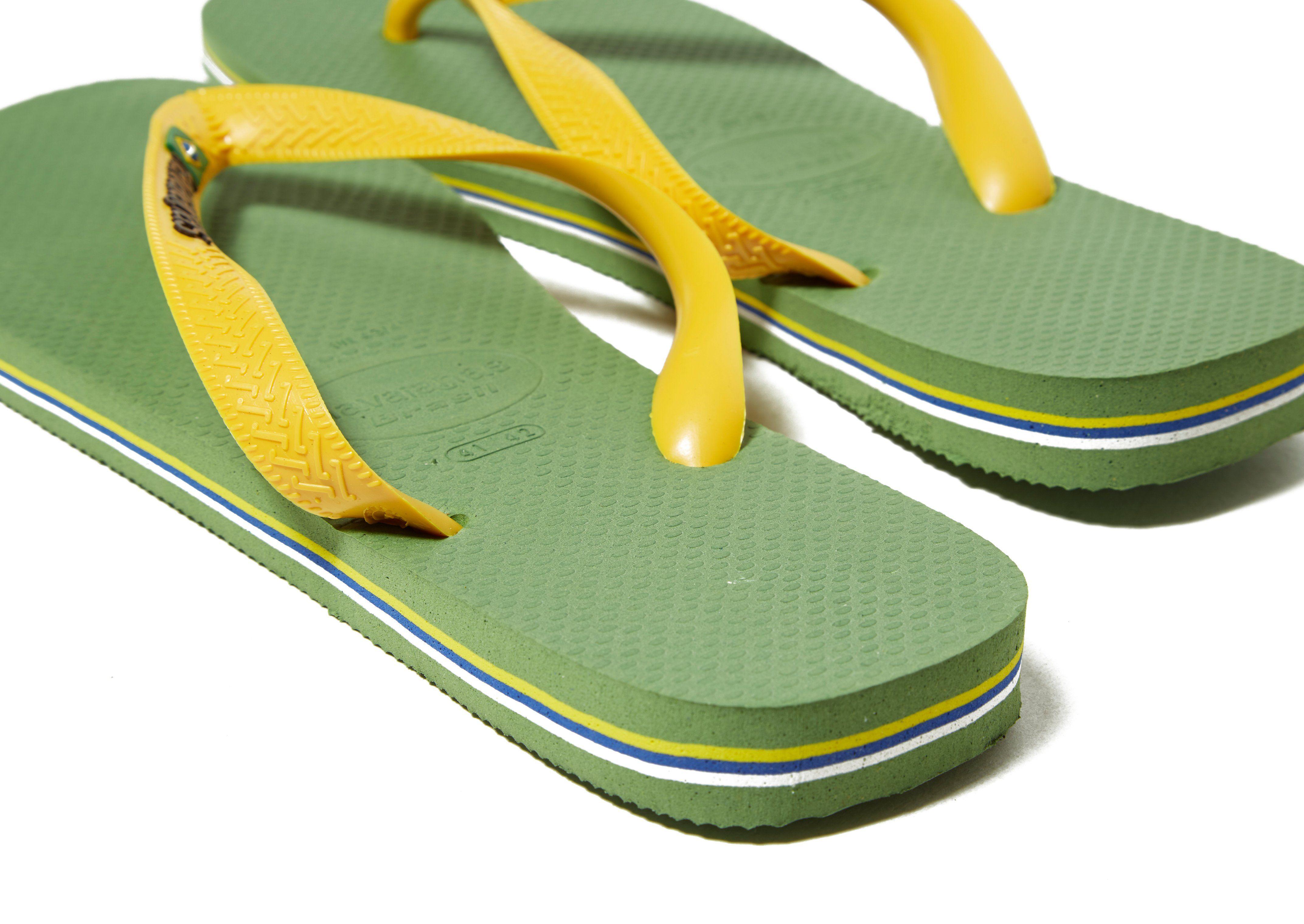 Günstig Kaufen Brandneue Unisex Pick Ein Besten Zum Verkauf Havaianas Brazil Logo Flip Flops Grün zlbBCCL0N