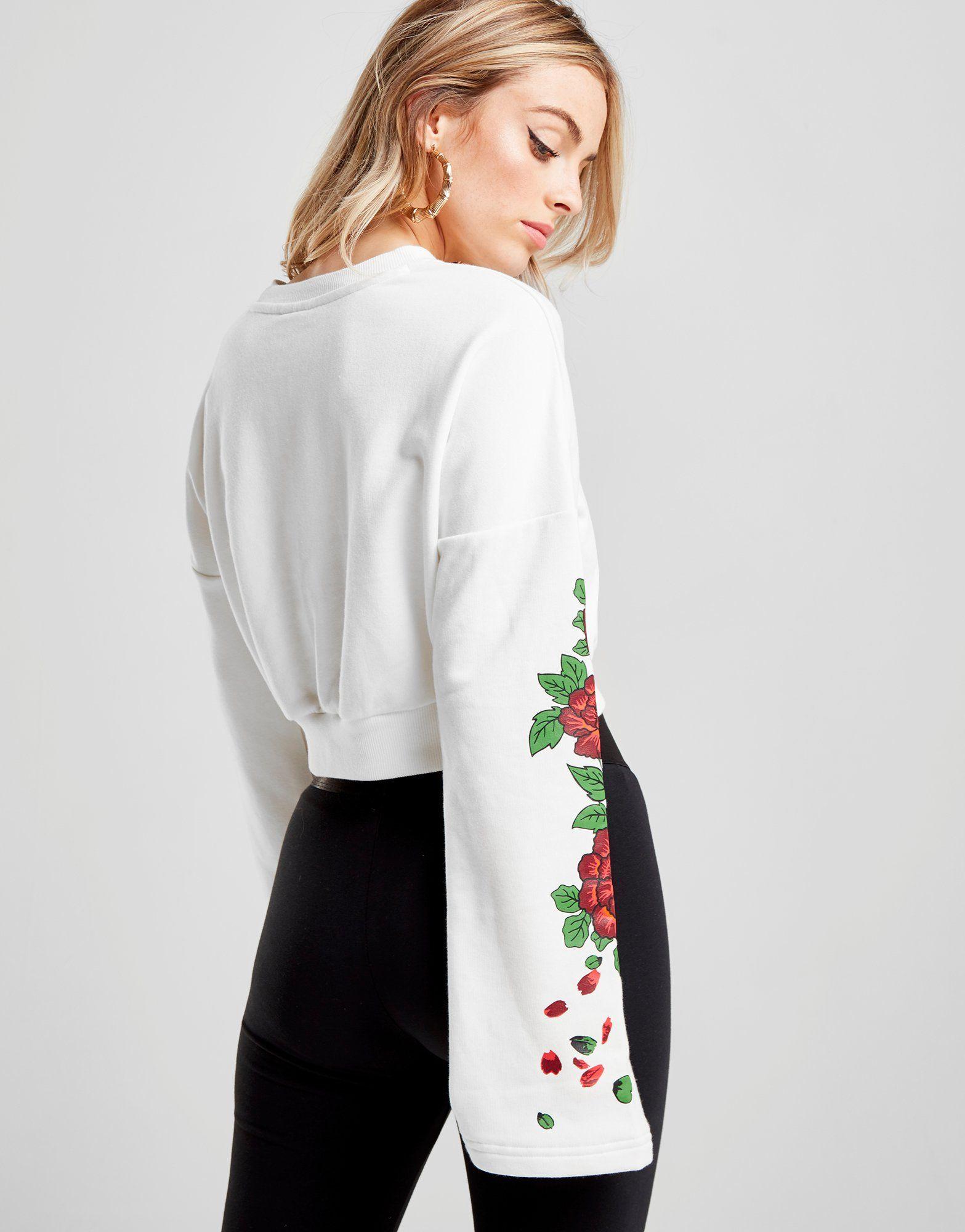 PUMA Sweat Gothic Floral Crop Femme
