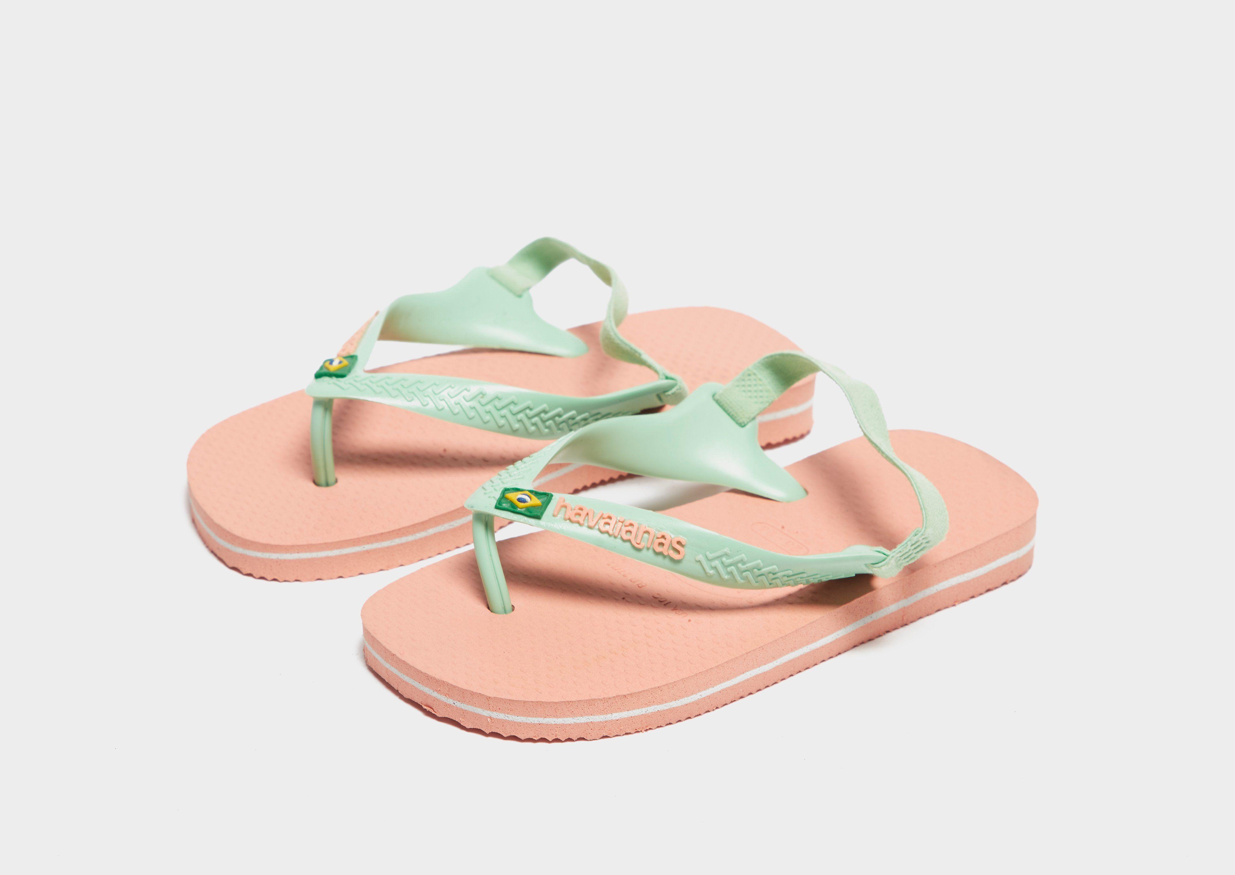 Erschwinglicher Verkauf Online Billig Zum Verkauf Havaianas Brazil Logo Flip Flops Infant Pink 0iTG6