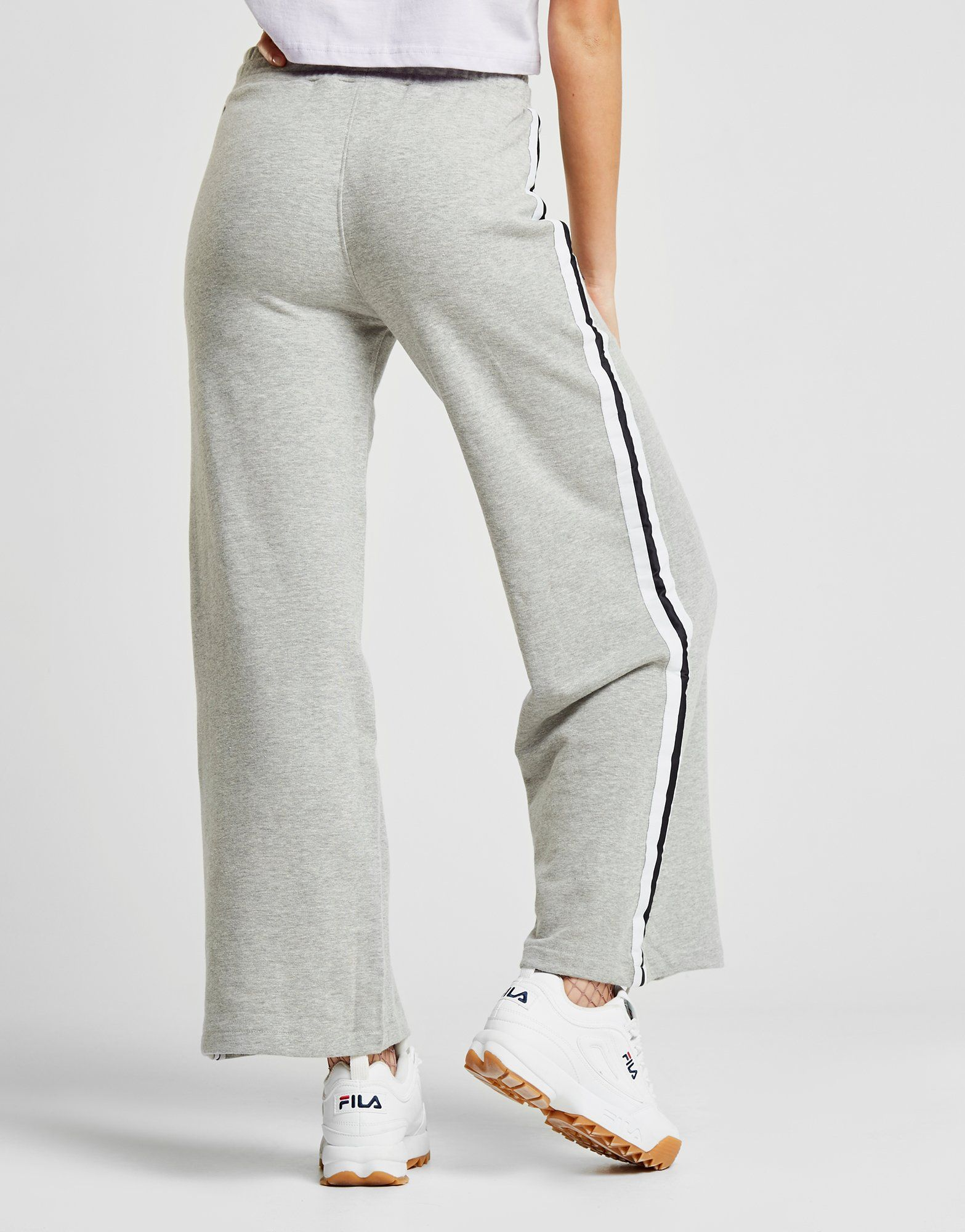 Ellesse Stripe Wide Leg Pants Grau