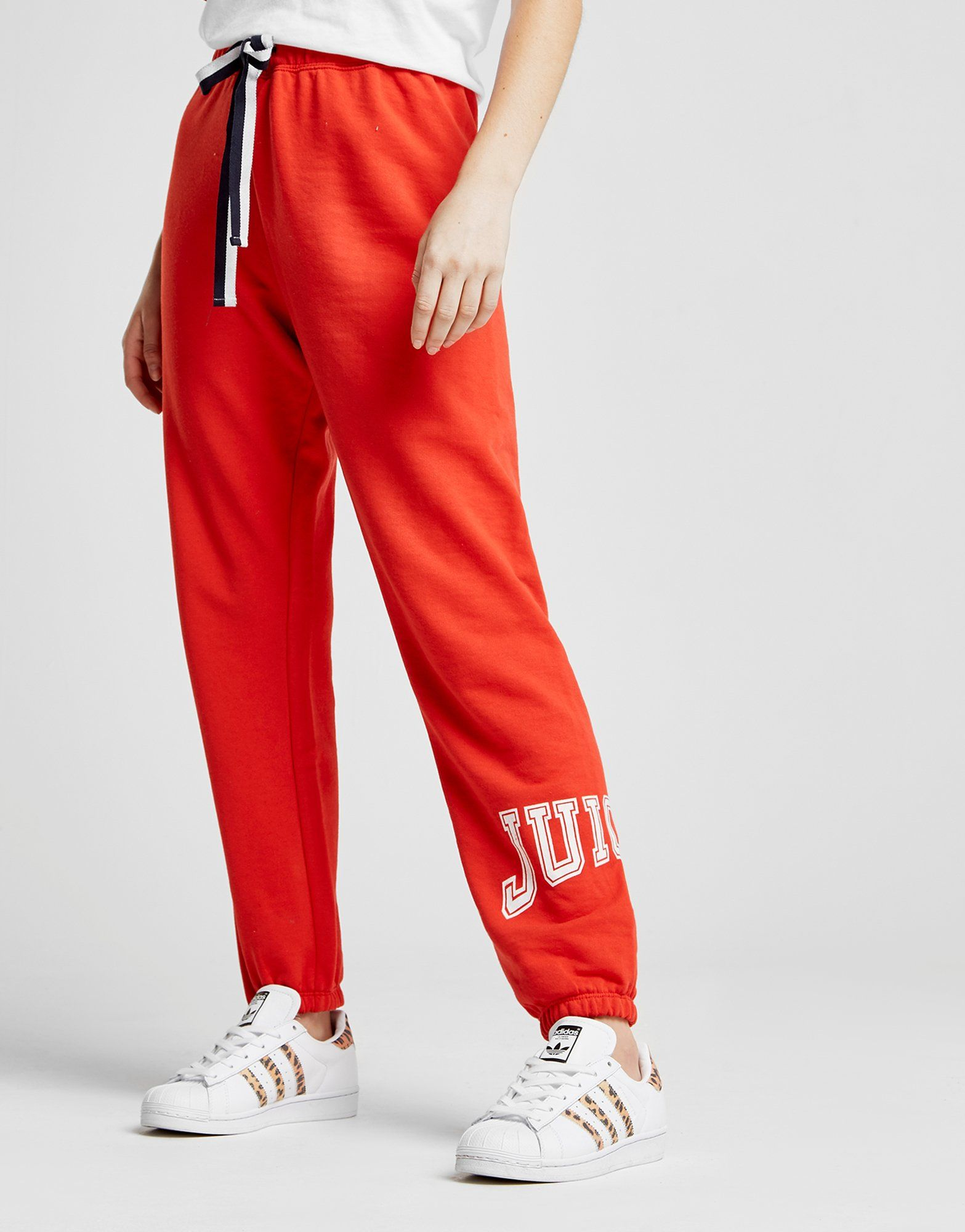 Juicy by Juicy Couture Logo Terry Pants Rot