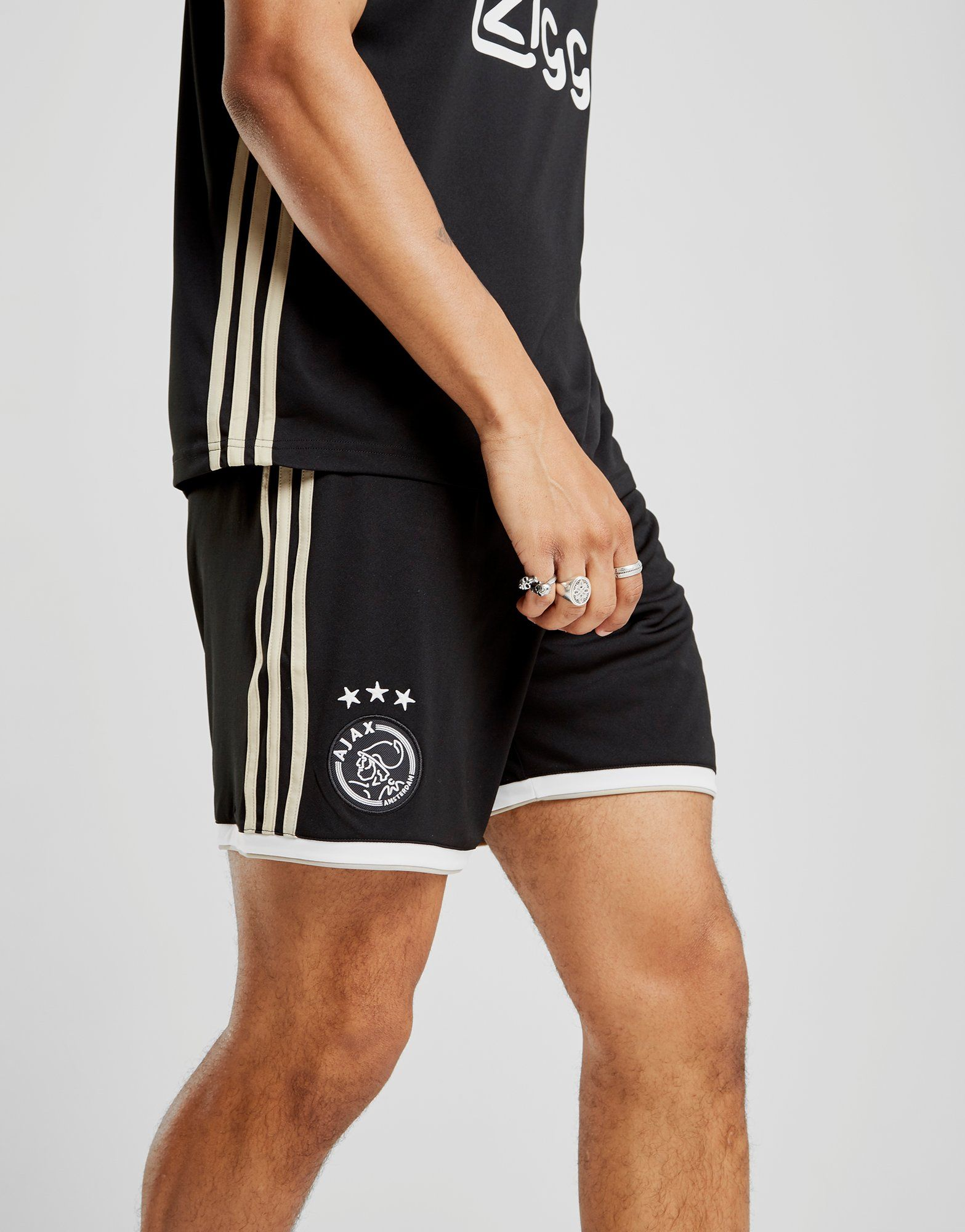 adidas Ajax 2018/19 Away Shorts Schwarz