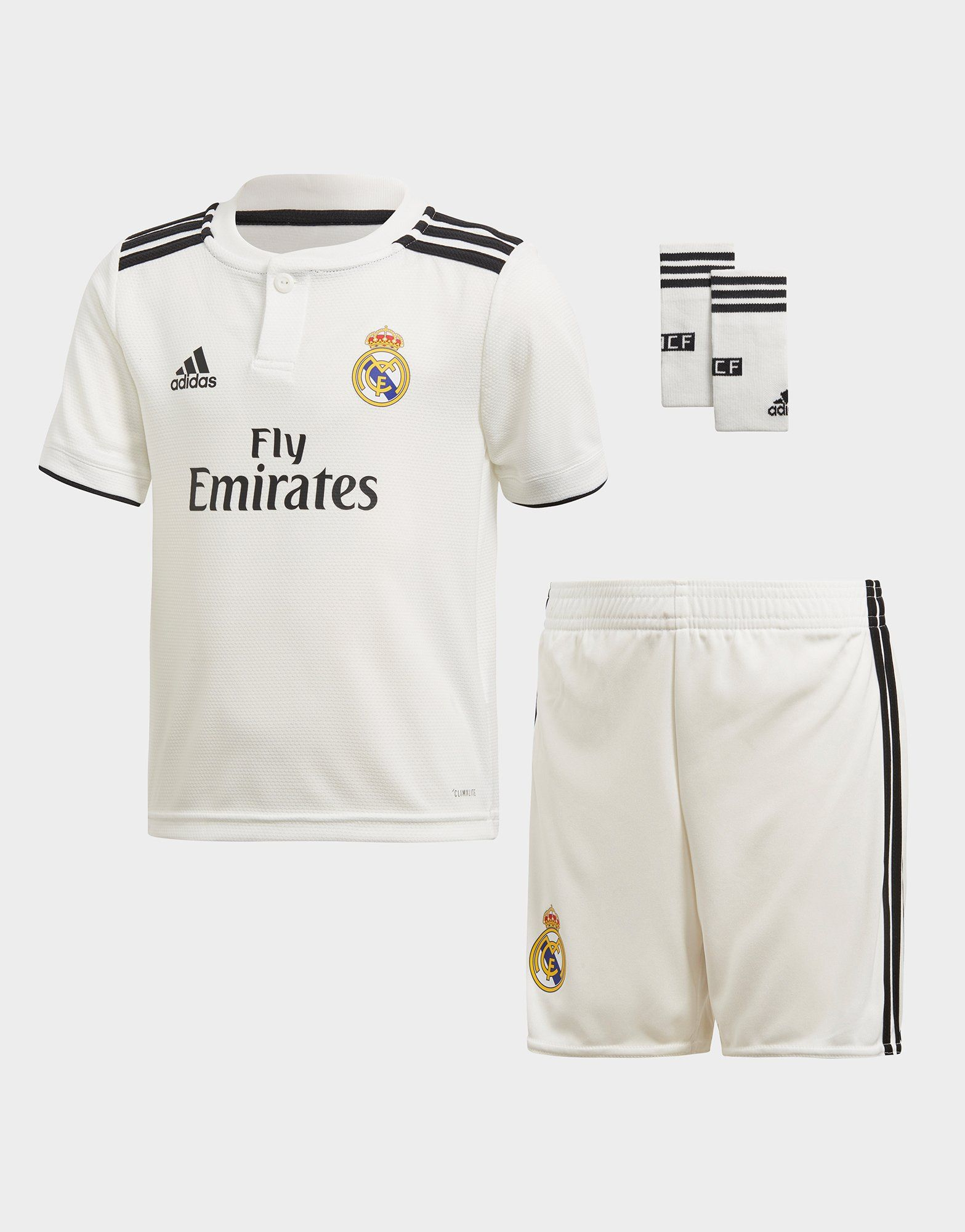 cc5d5655f96f adidas conjunto Real Madrid 2018/19 1.ª equipación infantil | JD Sports