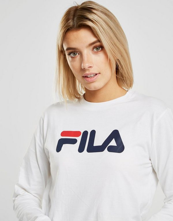 089ba2559e4b0f Fila Long Sleeve Boyfriend T-Shirt Dames