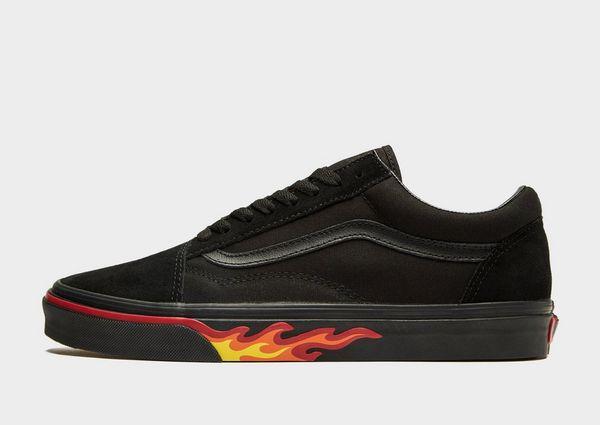 zapatillas vans con llamas