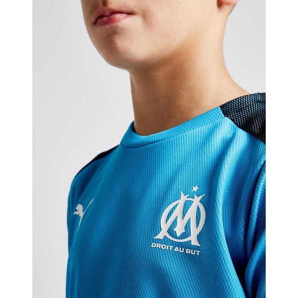 puma maillot d 39 avant match olympique marseille junior jd sports. Black Bedroom Furniture Sets. Home Design Ideas