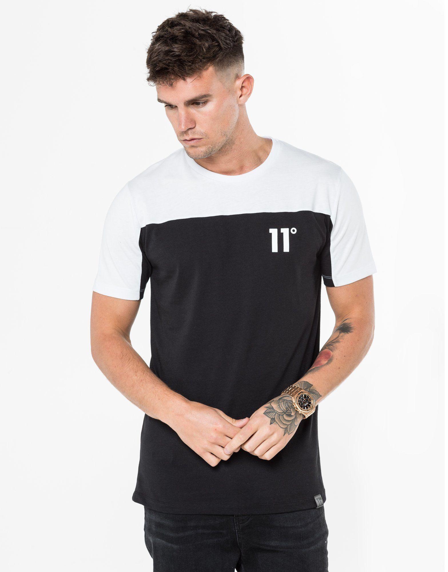 officiële foto's verenigd koninkrijk erkende merken Shoptagr | 11 Degrees Colour Block T Shirt by 11 Degrees