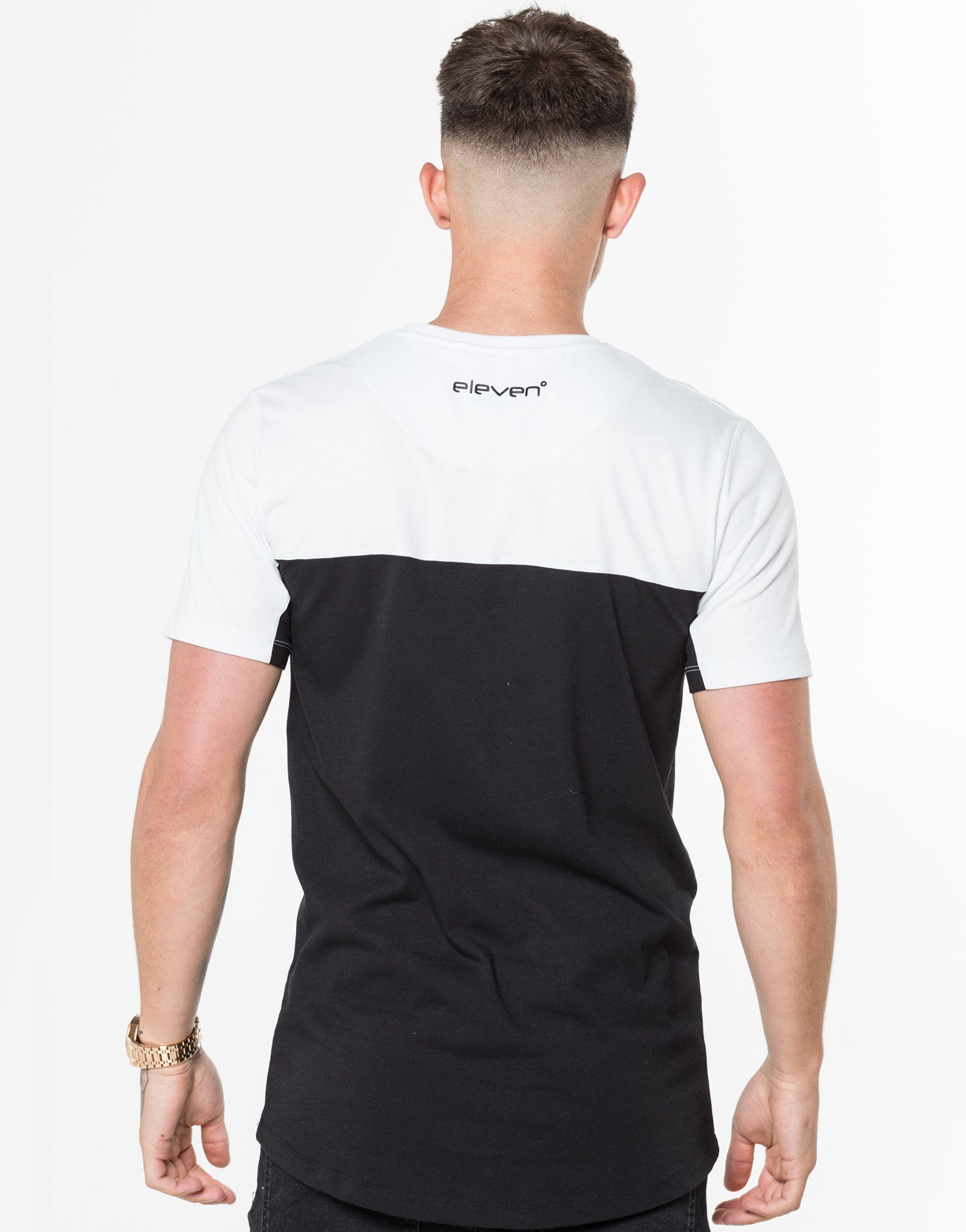 11 Degrees Farbblock T-Shirt Schwarz