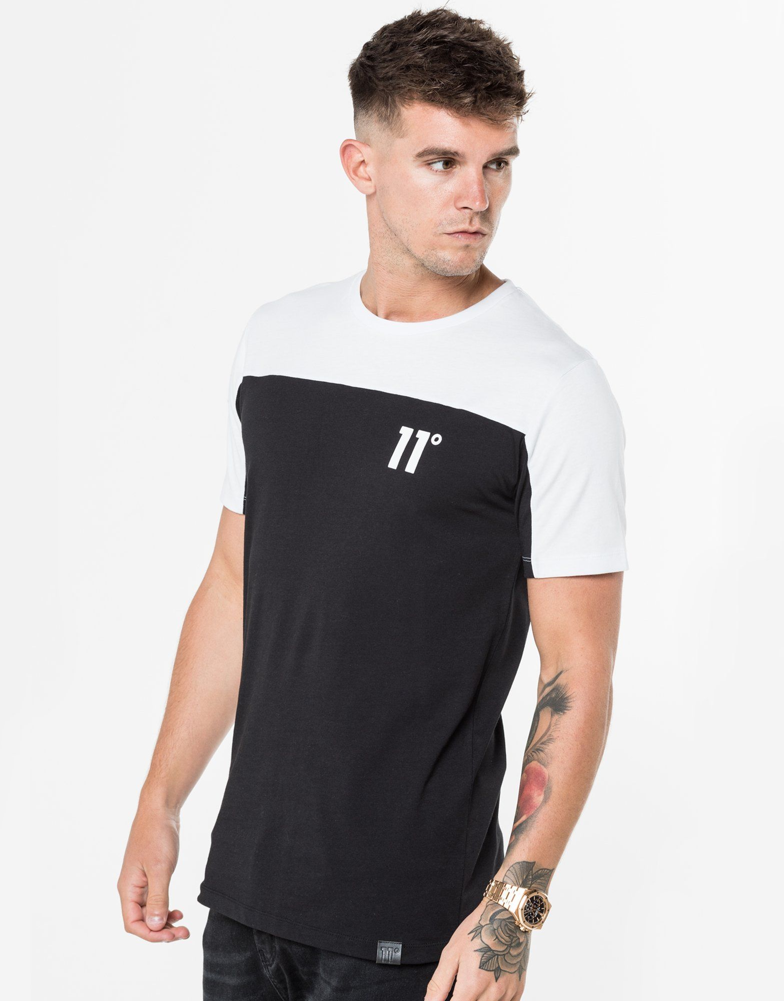 11 Degrees Colourblock T-Shirt Homme -