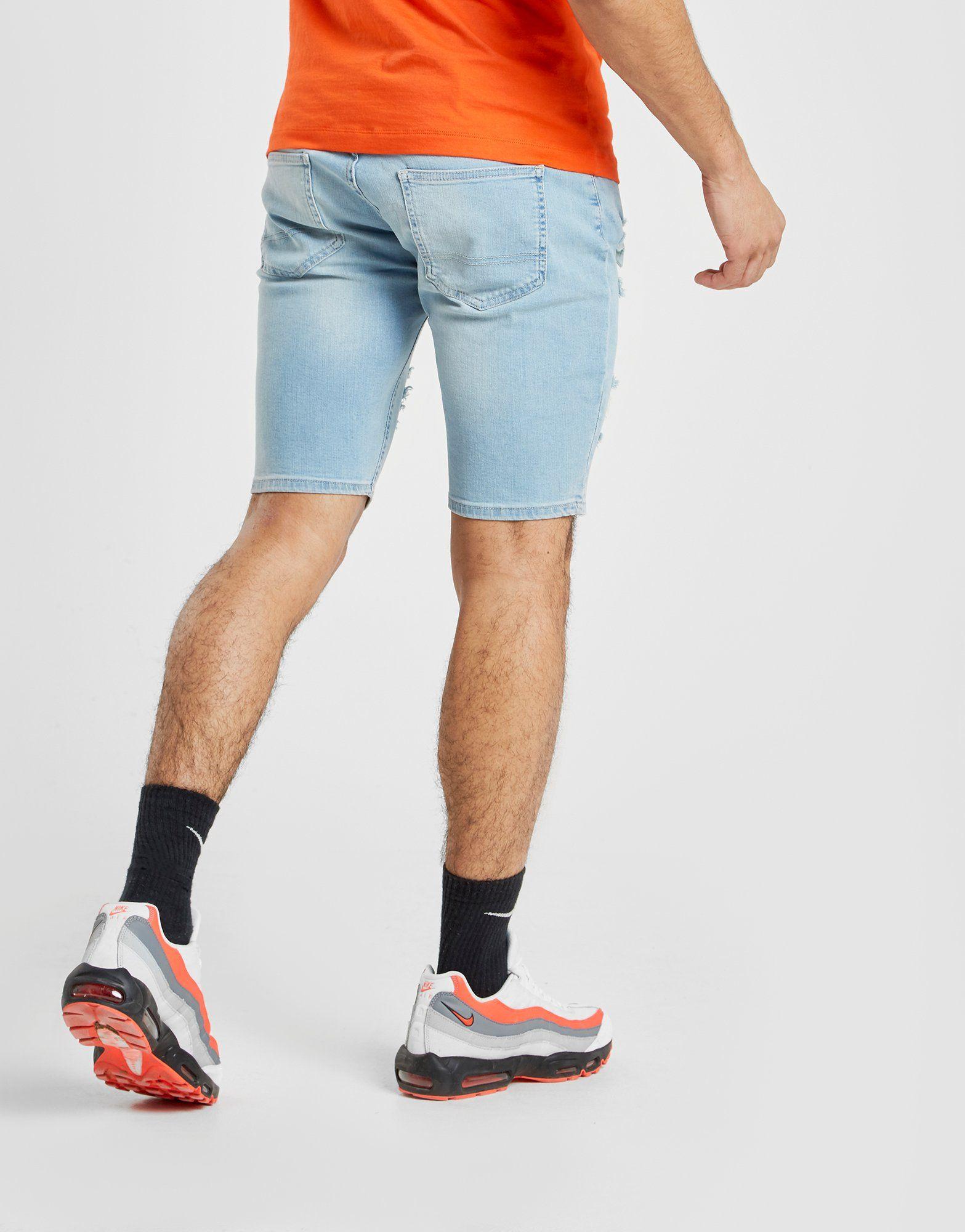 SikSilk Mid Denim Shorts Blau Am Besten Zu Verkaufen Rabatt Zahlen Mit Paypal DjIGr