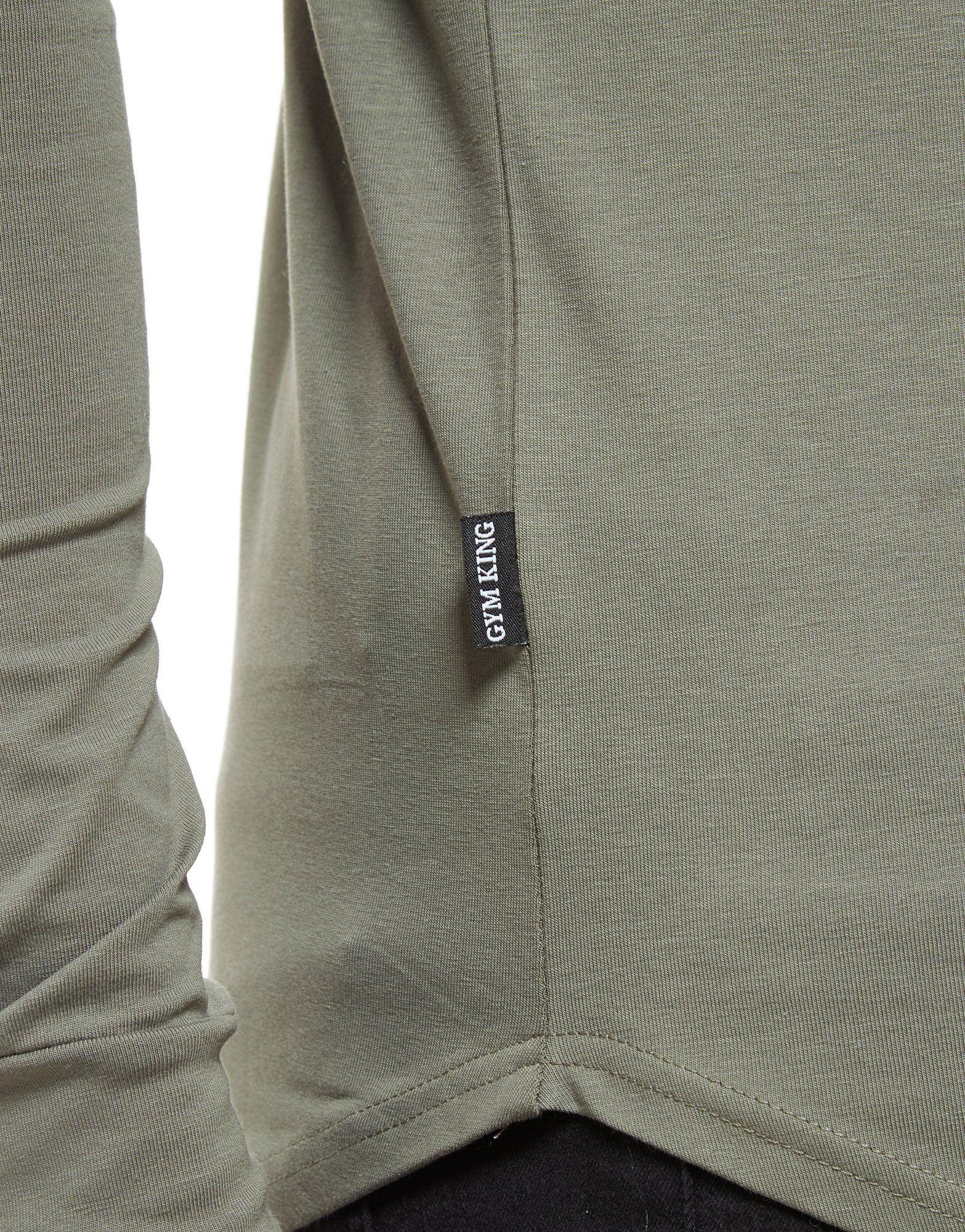 Gym King Long Sleeve Core T-Shirt Grau