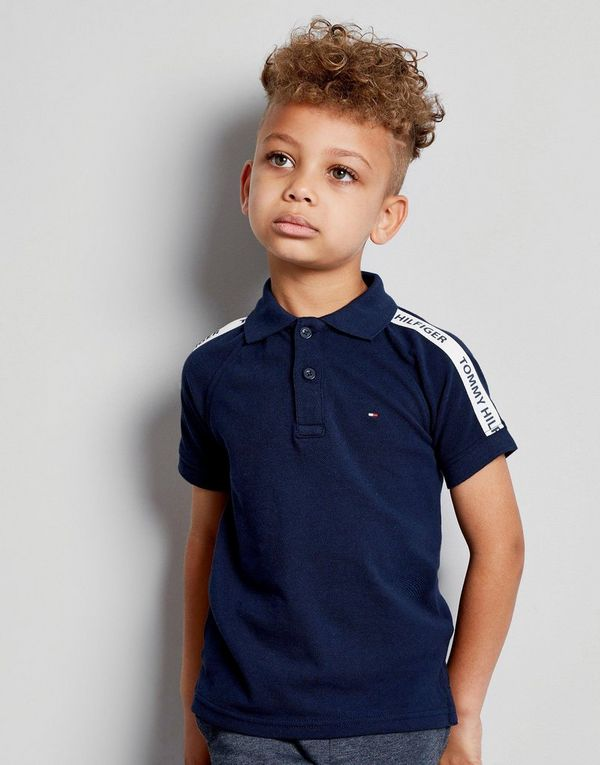 Tommy Hilfiger Retro Tape Polo Shirt Children   JD Sports 38b09f1dfb