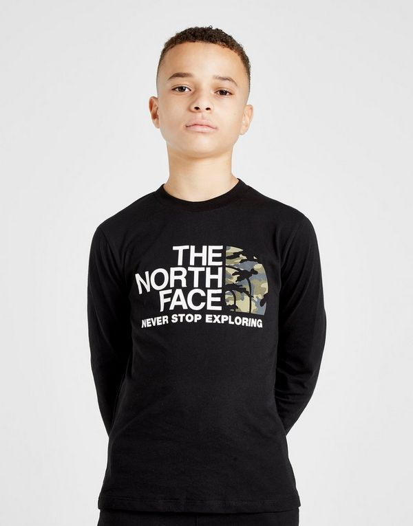 7b5093c59372 The North Face Long Sleeve Camo T-Shirt Junior