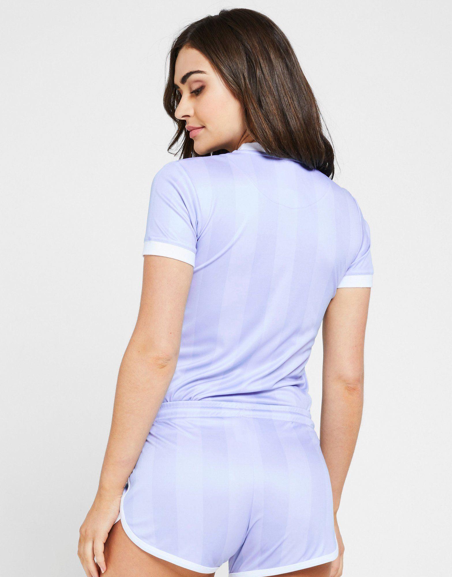 SikSilk Shadow Stripe T-Shirt Lila