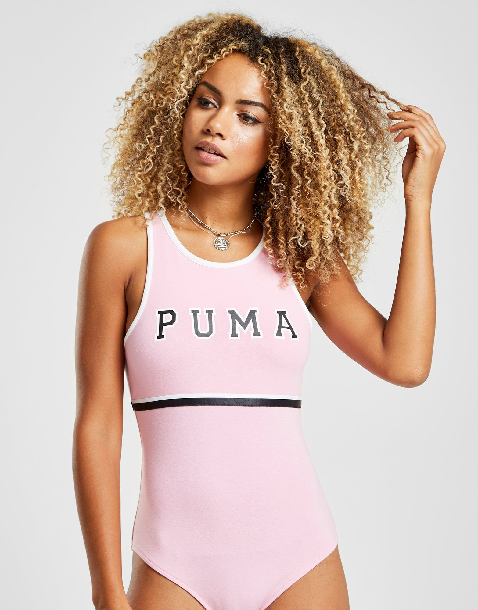 PUMA Stripe High Neck BodySuit