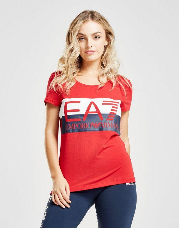 Emporio Armani EA7 T-shirt Logo Stripe Femme   JD Sports bc2398aaa81