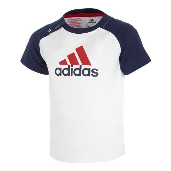 adidas Mini 3 Stripe Logo T-Shirt Infants