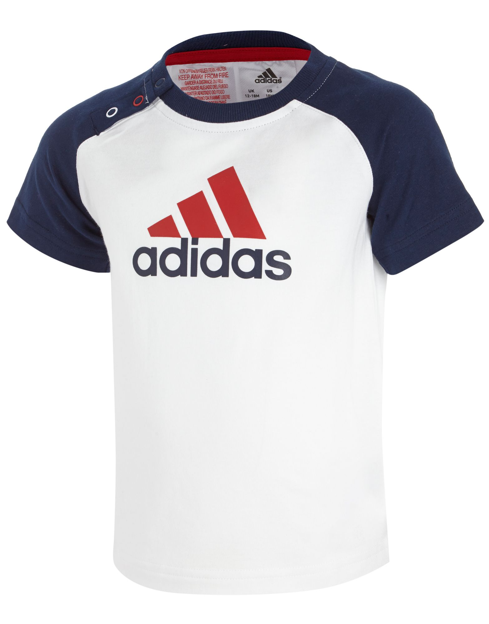 adidas Mini 3 Stripe Logo T-Shirt Infants