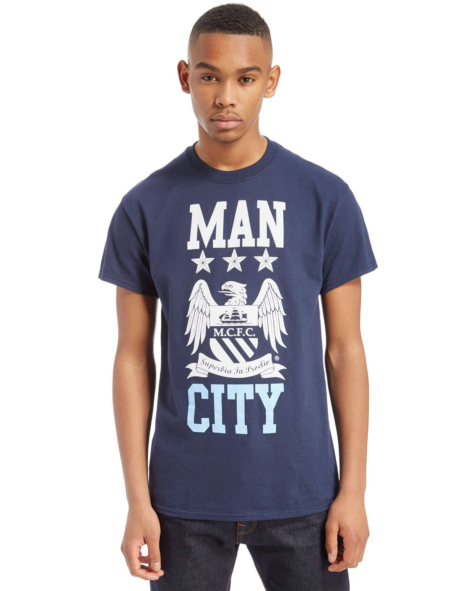 Official Team Manchester City F.C Block T-Shirt