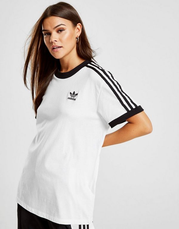 adidas Originals 3-Stripes California T-Shirt Dames | JD Sports
