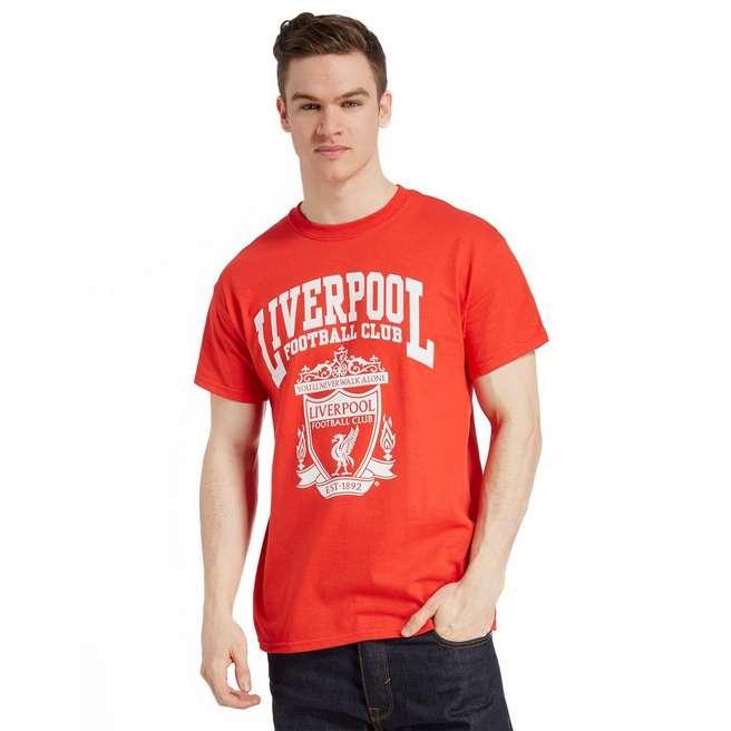 Official Team Liverpool F.C Crest T-Shirt