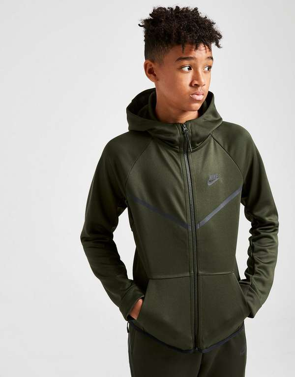 3cb9a5257d89 Nike Tech Poly Full Zip Hoodie Junior