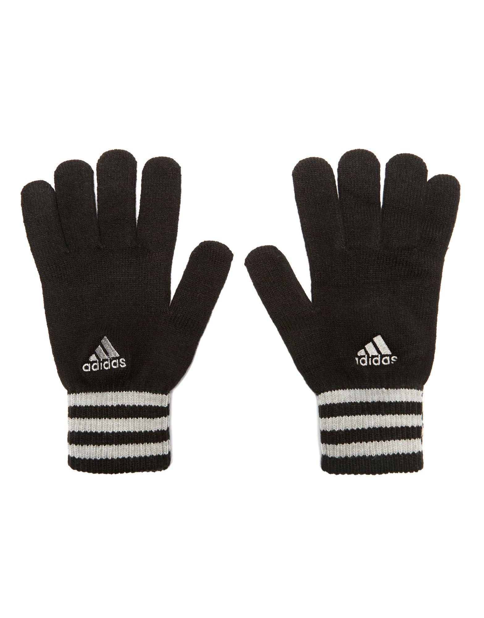 Leather gloves mens jd - Adidas Essential 3 Stripe Gloves
