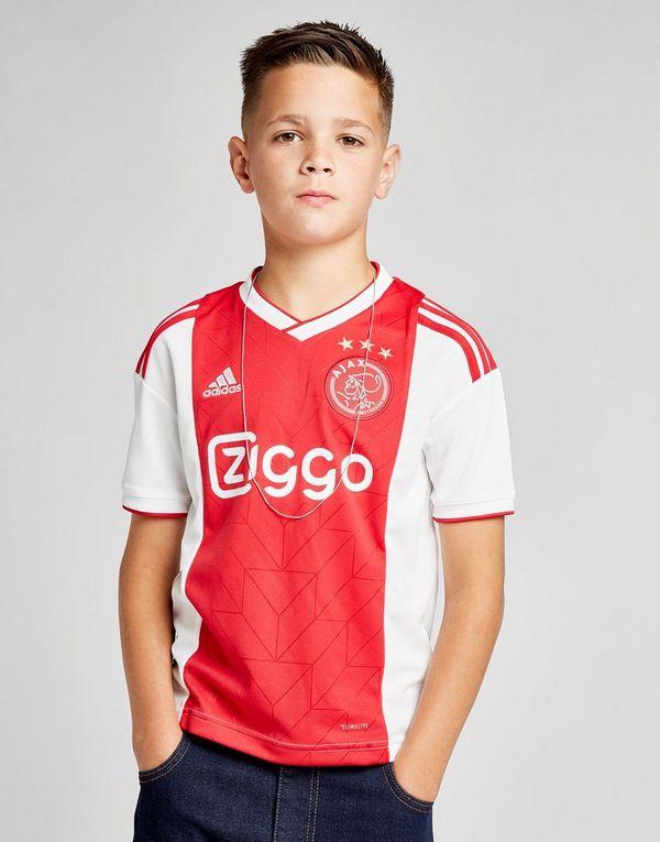 adidas ajax 2018/19 home shirt junior   jd sports ireland