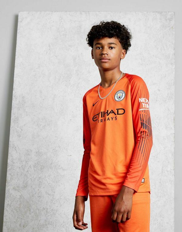 ce25bc64618 Nike Manchester City 18 19 Home Goalkeeper Shirt Junior