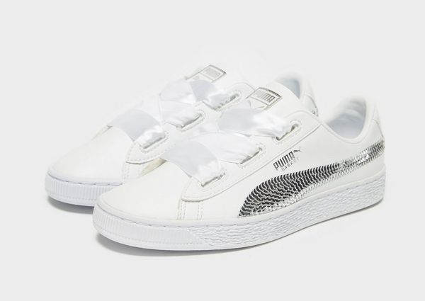 a2520e01f09f5f PUMA Basket Heart Bling Junior