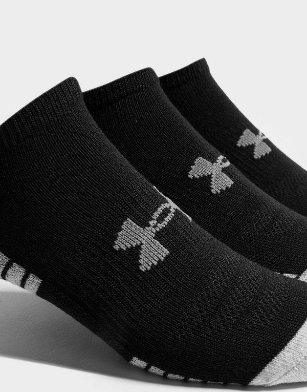 Under Armour 3 Pack HeatGear Tech No Show Socks Heren