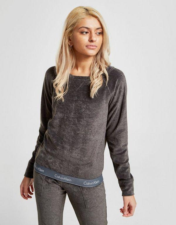dfc4b1121685 Calvin Klein Underwear Modern Cotton Velour Crew Sweatshirt
