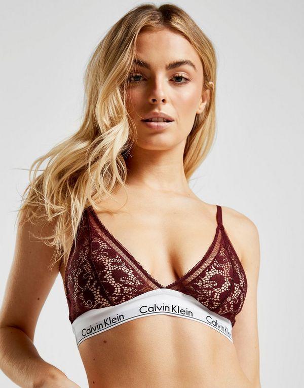 d52563ad24 Calvin Klein Underwear Modern Cotton Triangle Lace Bra