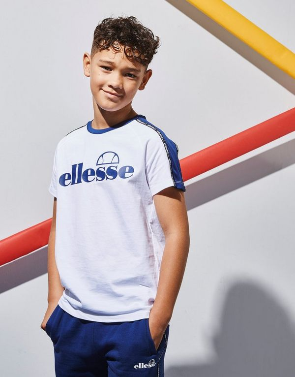 Ellesse Edison Tape T-Shirt Junior   JD Sports c26b7b57da