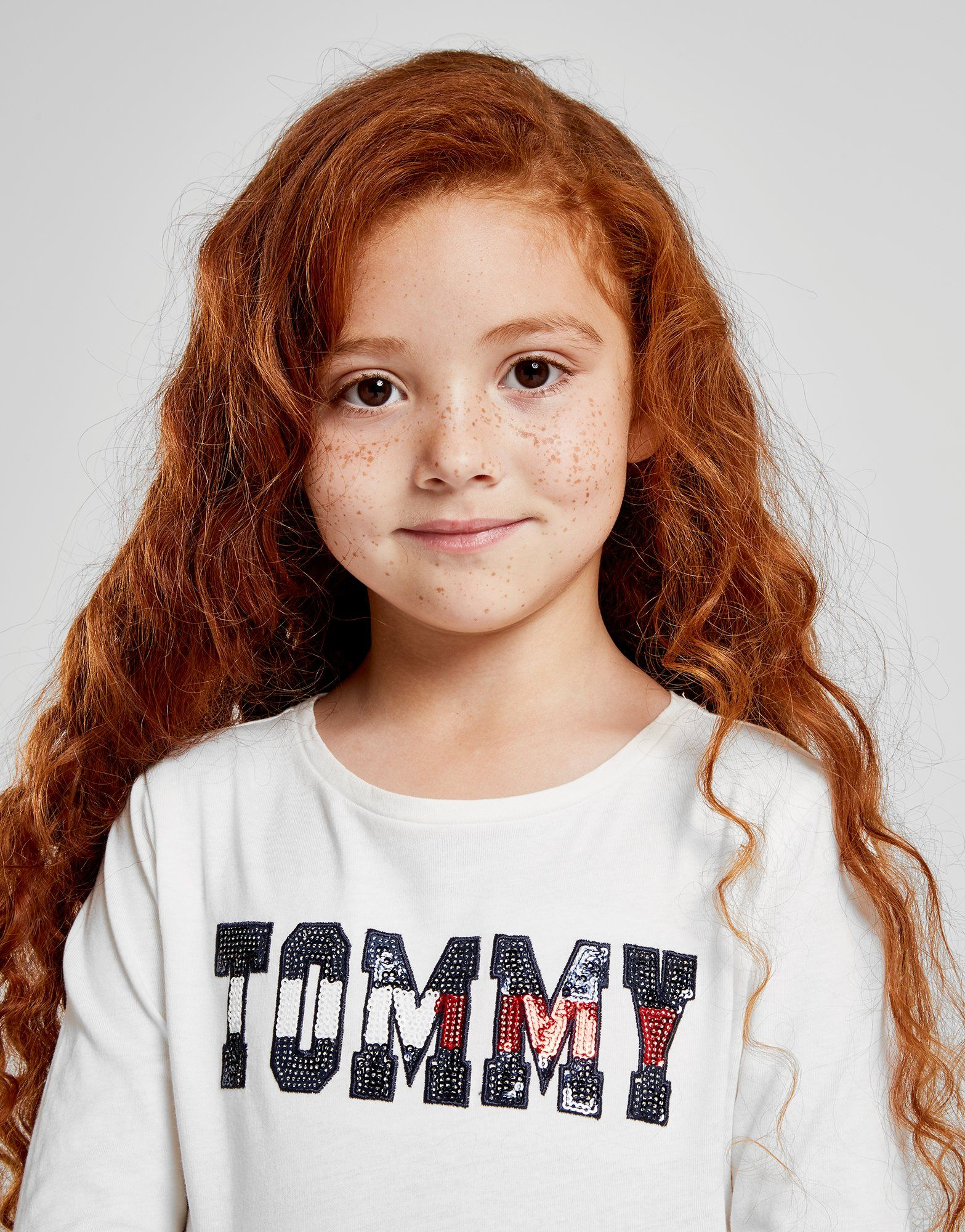 Tommy Hilfiger Girls' Essential Sequin Logo T-Shirt Children