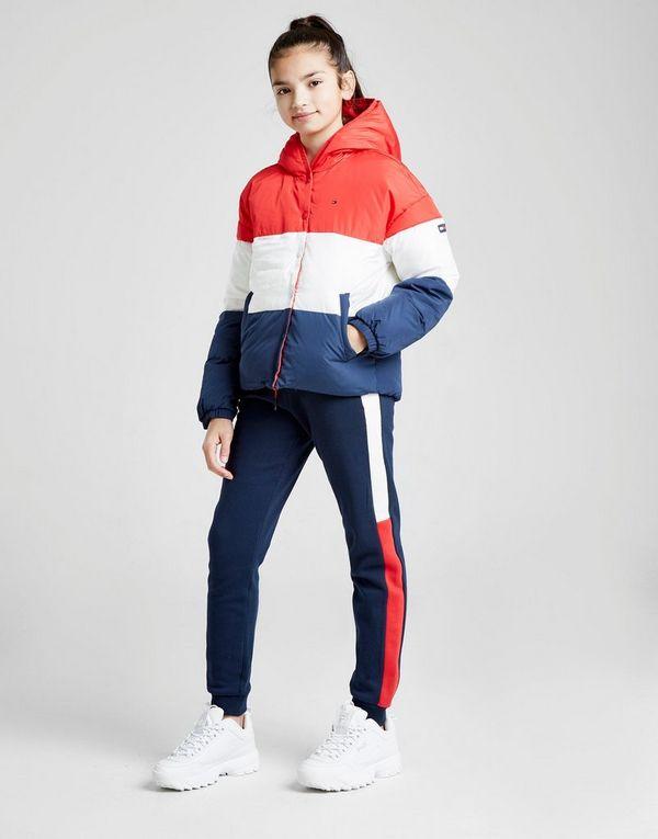 84627f4f1c9 Tommy Hilfiger Girls  Colour Block Flag Padded Jacket Junior