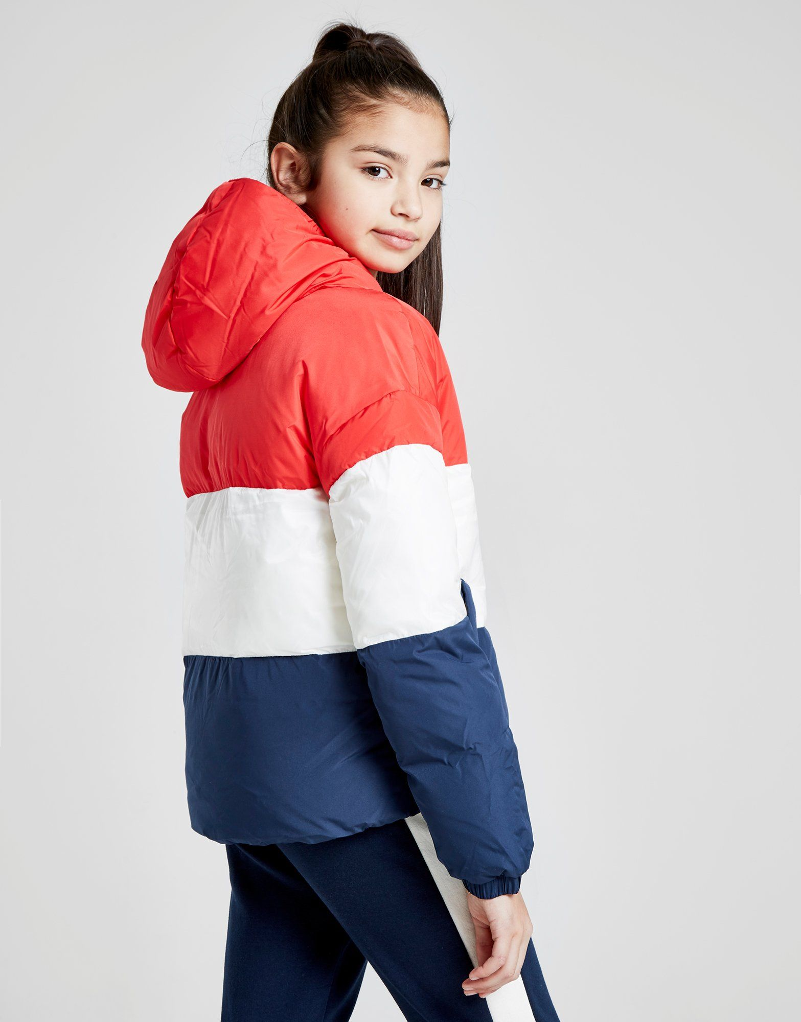 Tommy Hilfiger Girls' Colour Block Flag Padded Jacket Junior