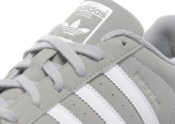 Adidas Superstar Womens Grey And White